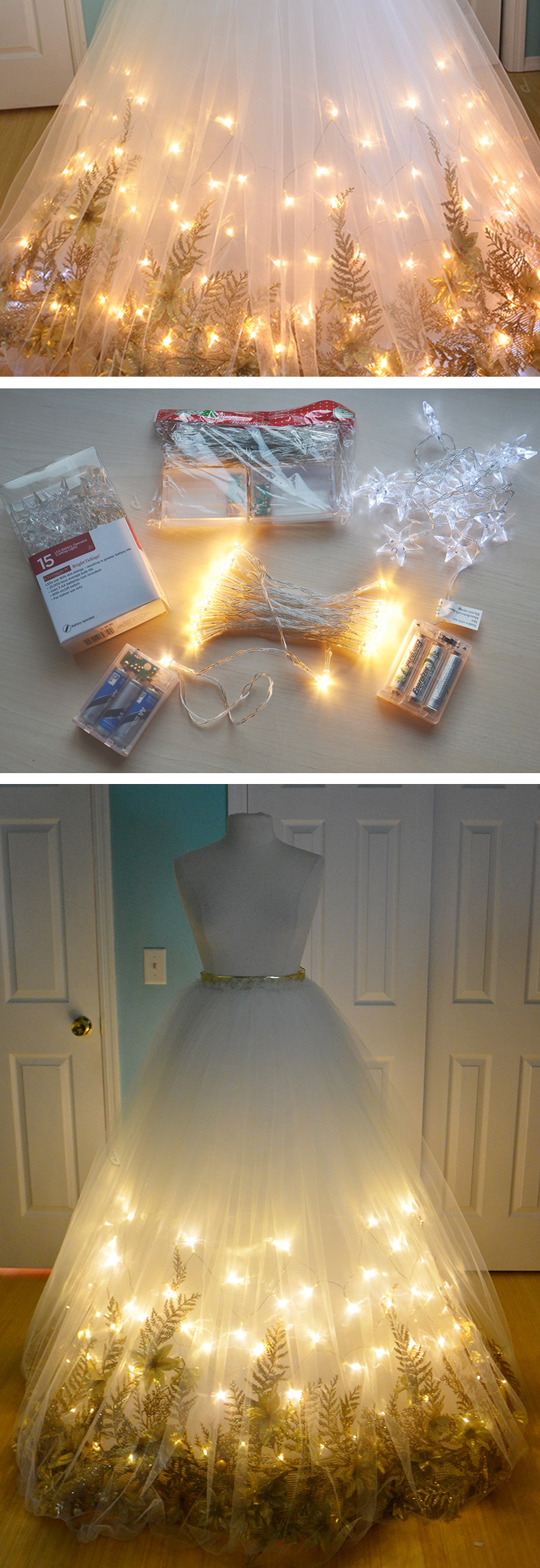 Awesome diy inspiration a light up fairy garden tulle for How to make a beautiful lantern