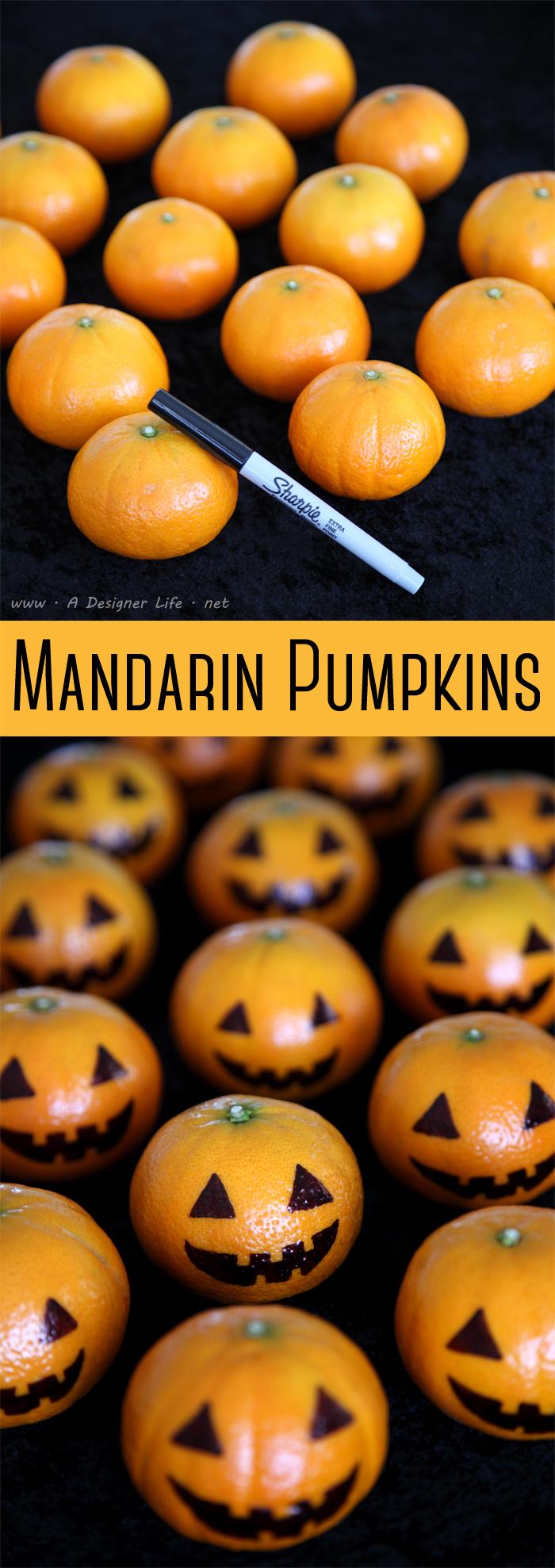 Halloween food   Mandarin Pumpkins   Beanstalk Mums